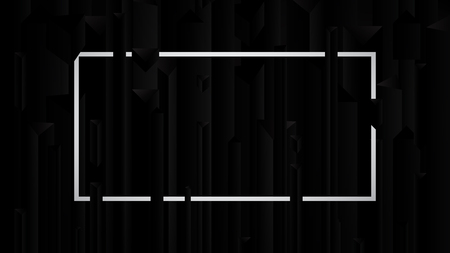 Dark abstract background black stone, vector illustration Illustration