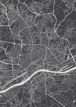 Frankfurt am Main city plan, detailed vector map Illustration