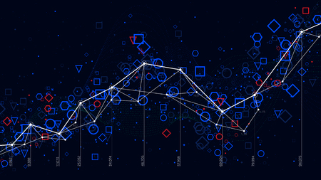 Abstract futuristic infographic, business statistics big data graph visualization