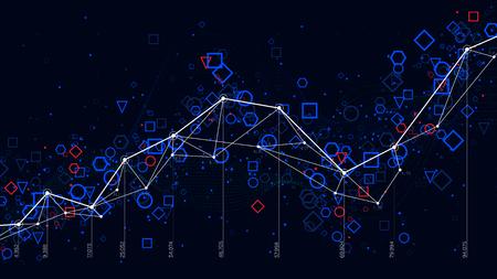 Abstract futuristic infographic, business statistics big data graph visualization