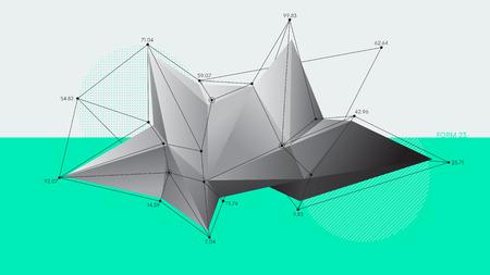 Formes de cristal modernes abstraites à faible polygone, fond de vecteur futuriste Vecteurs