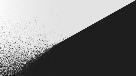 Black and white background dust explosion, spray effect vector illustration