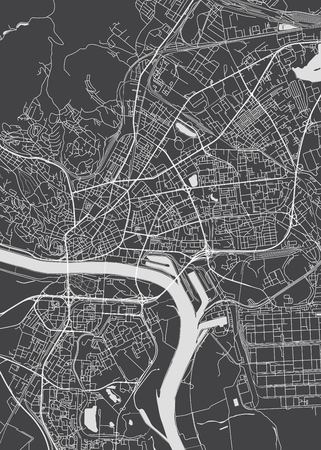 Bratislava city plan, detailed vector map