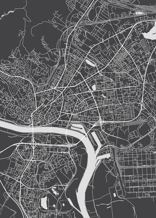 Bratislava city plan, detailed vector map