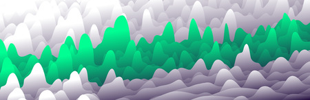 Colorful layers in gradient texture vector banner, Abstract background design for website Illustration
