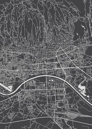 Stadtplan von Zagreb, detaillierte Vektorkarte Vektorgrafik