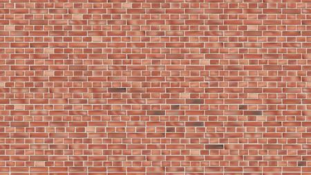 Fond de mur de brique rouge pour la conception de toile de fond vectorielle continue