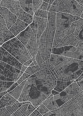 Athen Stadtplan, detaillierte Vektorkarte detaillierter Plan der Stadt, Flüsse und Straßen Vektorgrafik