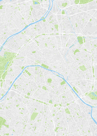 City map Paris, color detailed plan, vector illustration Reklamní fotografie - 123721466