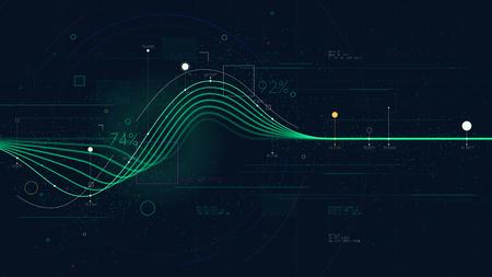 Dane wykresu informacyjnego przedstawiające przepływ zasobów finansowych, pulpit nawigacyjny Business Intelligence, kreatywna koncepcja prezentacji do prezentacji finansowej