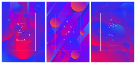 Set of creative trendy gradient compositions, Dynamic colored abstract background, vector illustration for your design