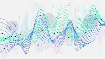 Schedule statistics data, analytical indicator sci-fi background, Hi-tech concept innovation