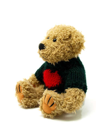 Teddy Bear on the white background photo