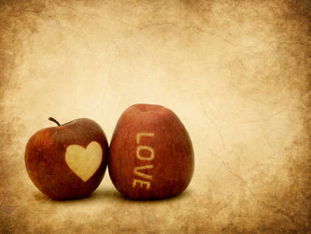 Valentine apples textured