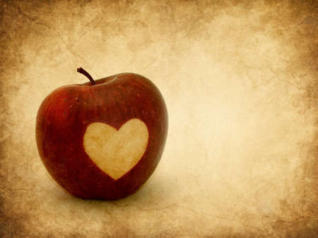 Valentine apple textured