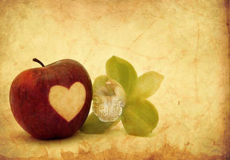 Valentine apple and orchid