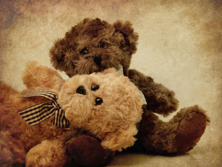 Teddy Bears textured Stock Photo