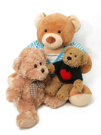 teddy bear love: Teddy Bears family Stock Photo