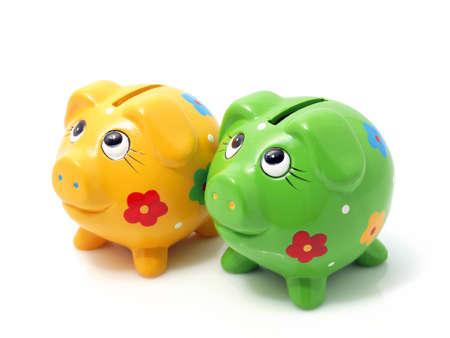 Piggy bank isolated Stock Photo