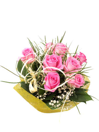 compliment: Rose flower bouquet