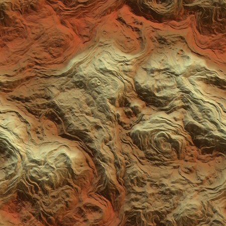 Fantasy planet terrain seamless texture or background illustration