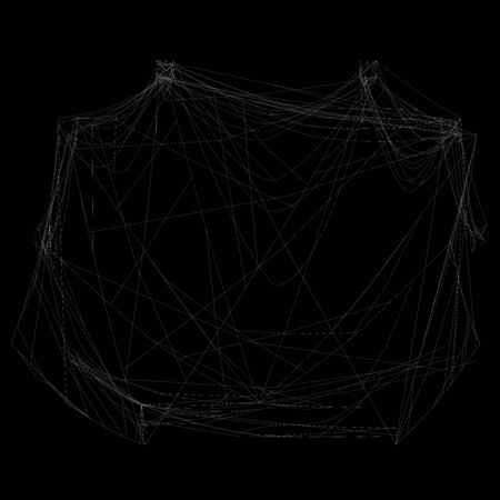 Spider web 3d illustration isolated on the black background