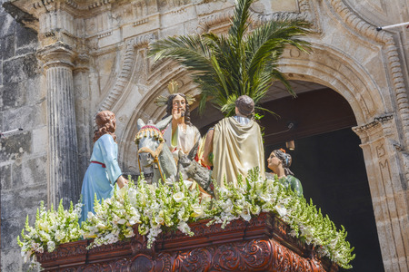 viacrucis: Holy Week in Spain, procession of \The triumphal entry of Jesus into Jerusalem\, Andalusia, C?diz