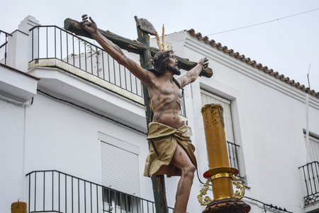 viacrucis: Holy Week in Spain, procession of \Christ the expiry, Our Lady of Hope\, Andalusia, C?diz