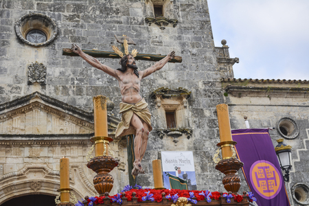 Holy Week in Spain procession Stock Photo