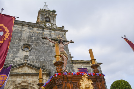 viacrucis: Holy Week in Spain procession Stock Photo