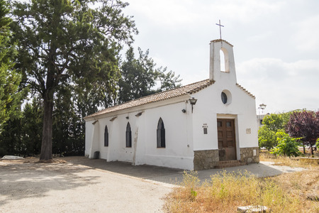 catholic chapel: Old chapel in rural area Stock Photo