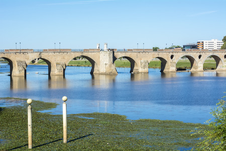 badajoz: Palms bridge Puente de Palmas Badajoz Spain Stock Photo