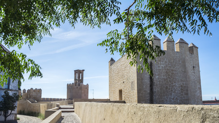 badajoz: Battlements pathways and towers of Badajoz muslim wall Spain Stock Photo