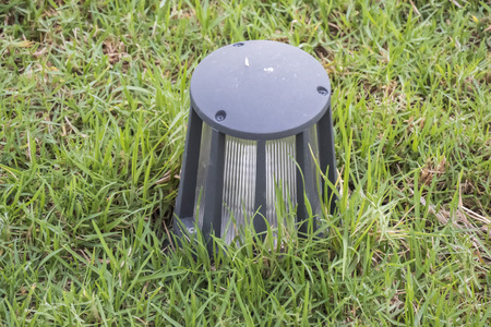 garden lamp: Garden lamp to light the way Stock Photo