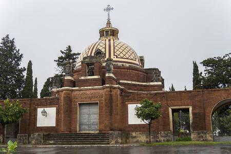 churchyard: Jerez de la Frontera graveyard, Cadiz, Spain Stock Photo
