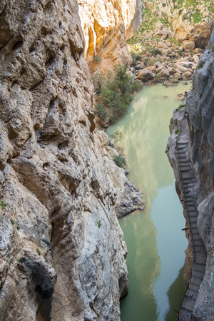 'El Caminito del Rey' King's Little Path, World's Most Dangerous Footpath reopened in May 2015. Ardales Malaga, Spain. Stock fotó