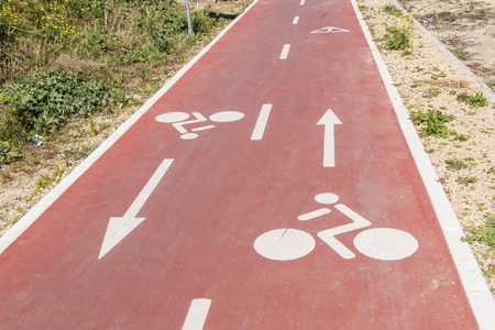 cycleway: Traffic signs  drawn in the Cycleway