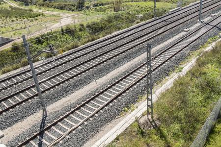 railtrack: Top view of the train tracks