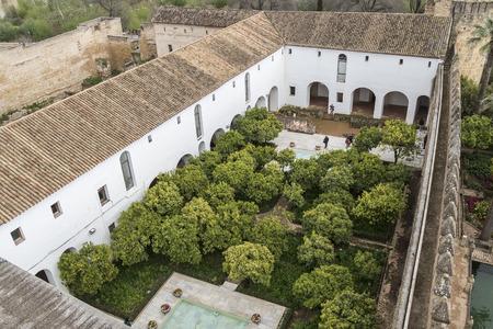 alcazar: Gardens of Alcazar de los Reyes Cristianos in Cordoba, Spain Stock Photo