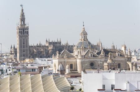 Collegiate Church of the Divine Savior, Seville Cathedral and Giralda, Seville, Spain. Iglesia colegial del divino Salvador, Catedral de Sevilla y Giralda, Sevilla, Espa�a