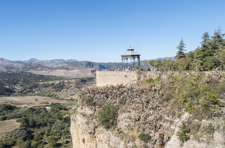 ronda: Romantic travellers viewpoint, Ronda, Malaga, Spain
