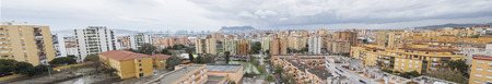 Panoramic view of Algeciras, the port and the rock of gibraltar, Cadiz, Spain