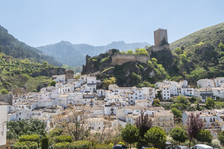Panoramic view of Cazorla village, in the Sierra de Cazorla, Segura and the Villas (Biosphere Reserve), Jaen, Spain