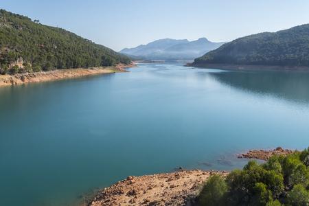 コントロール ・ ビエホ目を光らせて、グアダルキビル川、カソルラ自然公園、ハエン、スペイン 写真素材