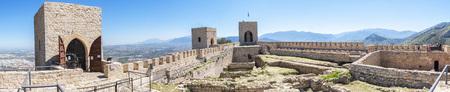 Santa Catalina castle interior panoramic view, Jaen, Spain