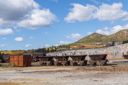 Restos de las antiguas minas de Riotinto en Huelva (España) Foto de archivo