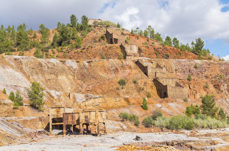 Remains of the old mines of Riotinto in Huelva (Spain)