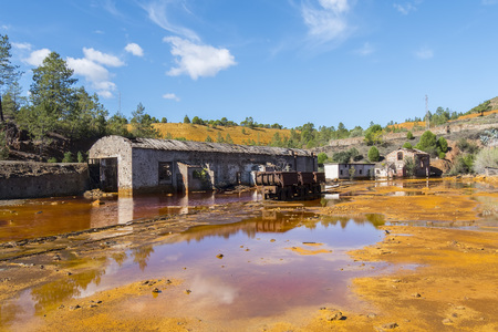 Vestiges des anciennes mines de Riotinto à Huelva (Espagne) Banque d'images