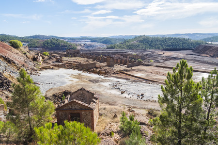 Remains of the old mines of Riotinto in Huelva (Spain) Stock Photo - 126098634