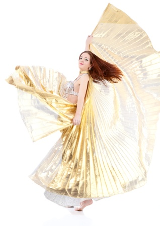 dance woman over white background photo
